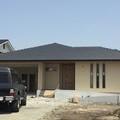 嘉穂郡桂川町:和風住宅、ウッドデッキが囲む家、平屋住宅、ガレージと掘りごたつのある家➀