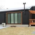 完成 飯塚市:大きな梁との薪ストーブのある平屋